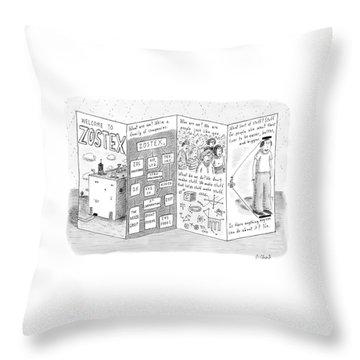 New Yorker August 21st, 2006 Throw Pillow