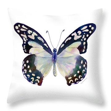 90 Angola White Lady Butterfly Throw Pillow