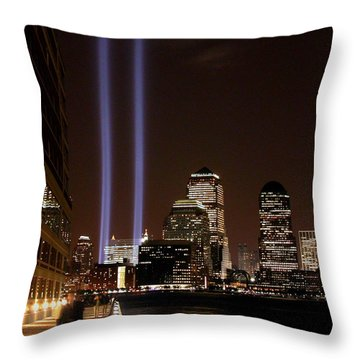 Throw Pillow featuring the photograph 911 Anniversary by Gary Slawsky