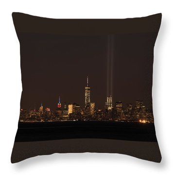9.11.2014  View From Staten Island Throw Pillow