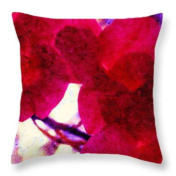 The Red Orchids  Throw Pillow