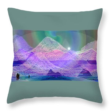 939 - Magic Mood  Mountain World Throw Pillow by Irmgard Schoendorf Welch