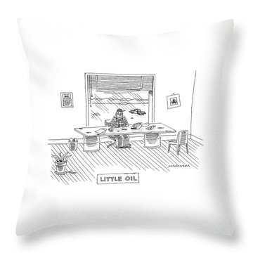 New Yorker February 4th, 2008 Throw Pillow