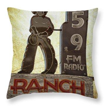 95.9 The Ranch Throw Pillow