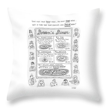 Doreen's Diner Throw Pillow