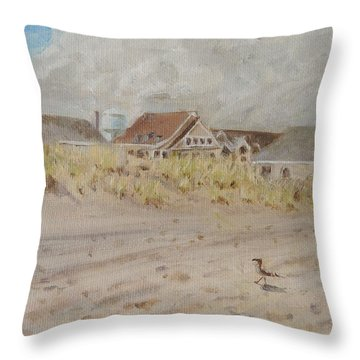 98th Street Beach Stone Harbor New Jersey Throw Pillow by Patty Kay Hall