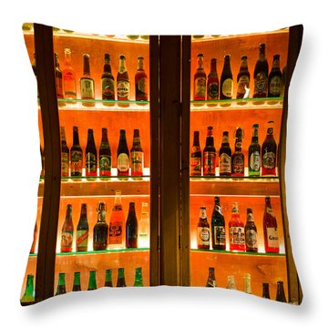 99 Bottles Of Beer On The Wall Throw Pillow by Semmick Photo