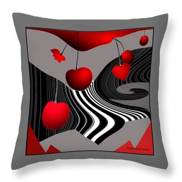 997 -   Deco Cherry     Throw Pillow