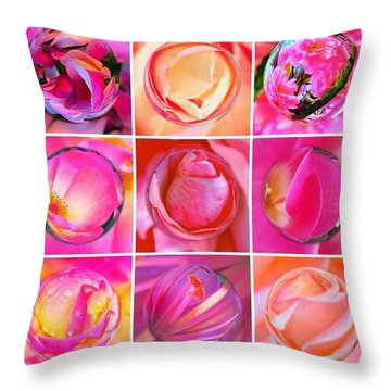 #9pinkribbons Digital Collage For Breast Cancer Awareness Throw Pillow