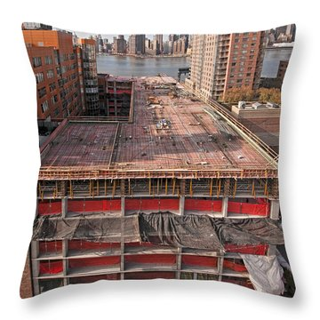 9th Floor Forms Throw Pillow by Steve Sahm