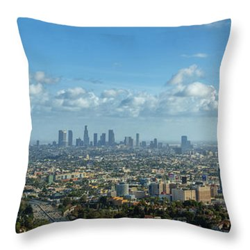 A 10 Day In Los Angeles Throw Pillow by David Zanzinger