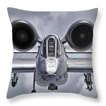 A-10 Thunderbolt II Throw Pillow by Adam Romanowicz