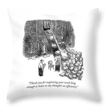 A A Foreman Speaks To A Warehouse Worker Throw Pillow