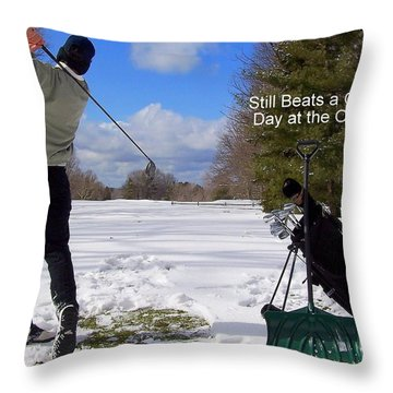 A Bad Day On The Golf Course Throw Pillow by Frozen in Time Fine Art Photography