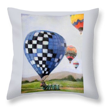 A Balloon Disaster Throw Pillow