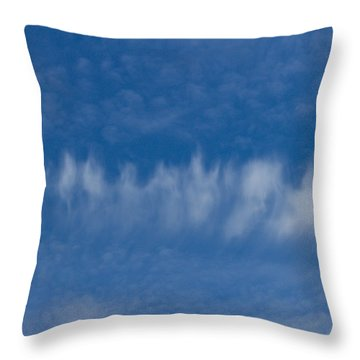 Throw Pillow featuring the photograph A Batch Of Interesting Clouds In A Blue Sky by Eti Reid