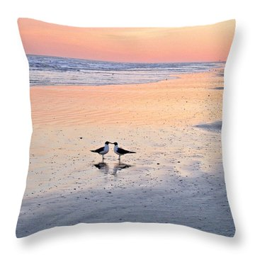 A Beach Romance Throw Pillow