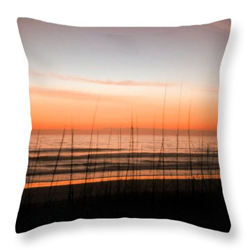 A Beachwork Orange Throw Pillow