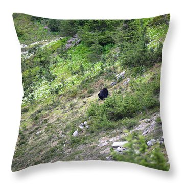 A Bear Out There Throw Pillow