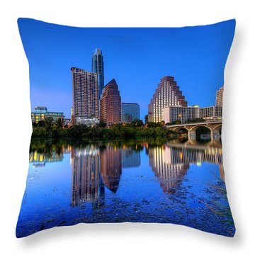 Throw Pillow featuring the photograph A Beautiful Austin Evening by Dave Files