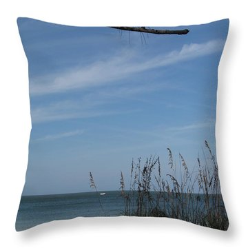 Throw Pillow featuring the photograph A Beautiful Day At A Florida Beach by Christiane Schulze Art And Photography