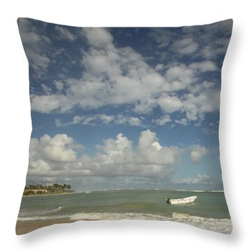 A Beautiful Day Throw Pillow by Mustafa Abdullah