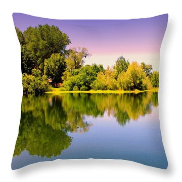 A Beautiful Day Reflected Throw Pillow