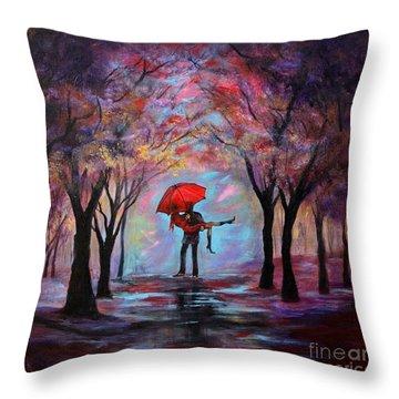 A Beautiful Romance Throw Pillow
