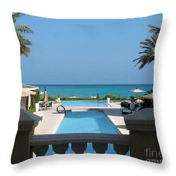 A Beautiful View Throw Pillow by Patti Whitten