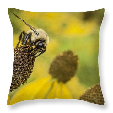 A Bee's Paradise Throw Pillow