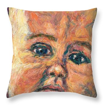 A Beginning Throw Pillow by Kendall Kessler