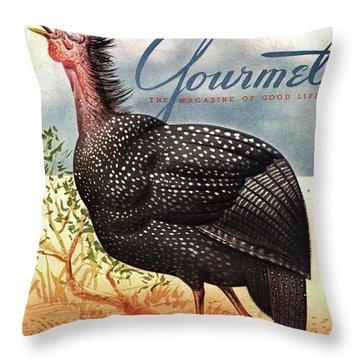 A Bellowing Turkey Throw Pillow