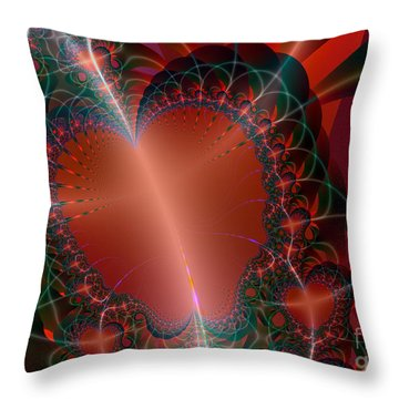 Throw Pillow featuring the digital art A Big Heart by Ester  Rogers