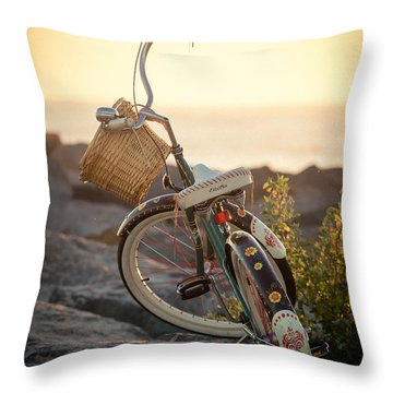 A Bike And Chi Throw Pillow