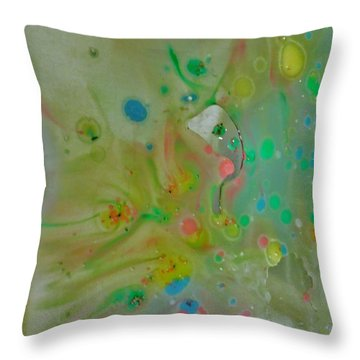 A Bird In Flight Throw Pillow by Robin Coaker