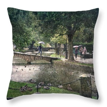 A Bit Of Rain Throw Pillow by William Beuther