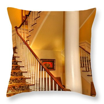 Throw Pillow featuring the photograph A Bit Of Southern Style by Kathy Baccari