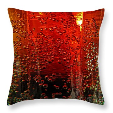 A Bit Of The Bubbly    Pepsi Throw Pillow by Debbie Portwood