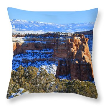 A Blanket Of Snow Throw Pillow by Roena King