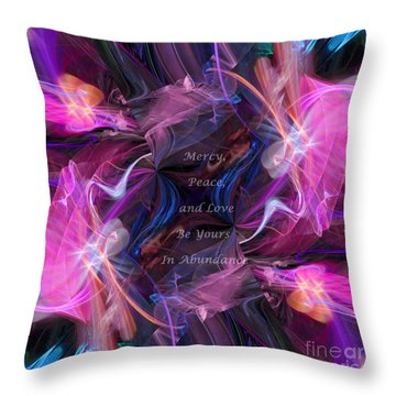 Throw Pillow featuring the digital art A Blessing by Margie Chapman