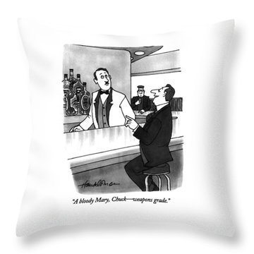 A Bloody Mary Throw Pillow