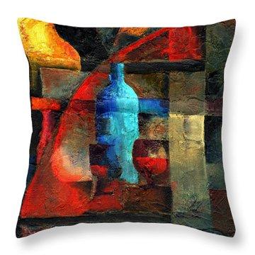 A Blue Blur Throw Pillow