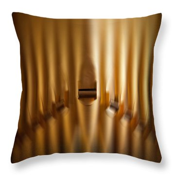 A Blur Of Pipes Throw Pillow