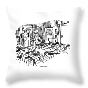 A Body Lies Face Down In A Room Where The Walls Throw Pillow
