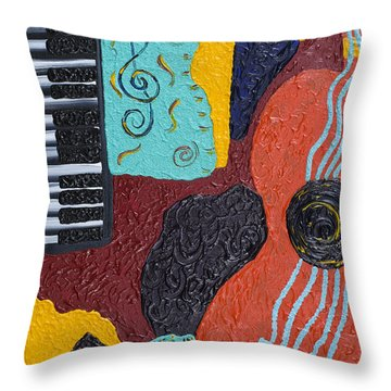 A Bold Session Throw Pillow by Robin Hillman