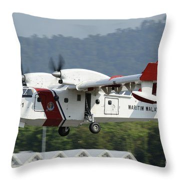 A Bombardier Aerospace Cl-415 Mp Throw Pillow by Remo Guidi
