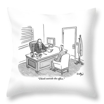 A Boss Asks His Employee Throw Pillow