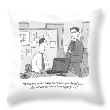A Boss Speaks To An Employee Throw Pillow