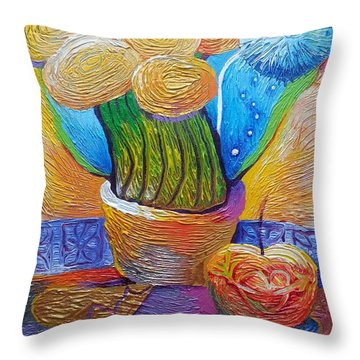 A Bouquet Of Fortune Always Had A Wish Throw Pillow