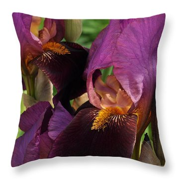 Throw Pillow featuring the photograph A Bouquet Of Lilies by Sabine Edrissi